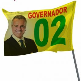 Bandeira Tecido 70X45 cm 4X0  Corte Reto