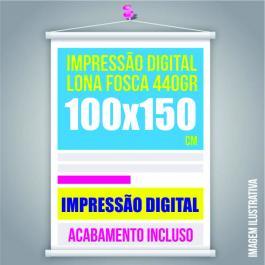 BANNER 100x150 Lona 440grs  4 Cores / Impressão Digital  Madeira / Cordão PARA PEDIDOS FEITOS ATÉ AS 12:00HS DO MESMO DIA ***com pagamento compensado