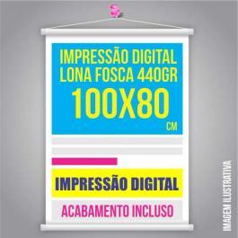 BANNER 80x100 Lona 440grs 4 Cores / Impressão Digital  Madeira / Cordão PARA PEDIDOS FEITOS ATÉ AS 12:00HS DO MESMO DIA