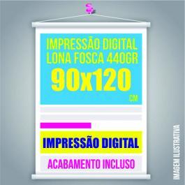 BANNER 90x120 Lona 440grs  4 Cores / Impressão Digital  Madeira / Cordão PARA PEDIDOS FEITOS ATÉ AS 12:00HS DO MESMO DIA ***com pagamento compensado