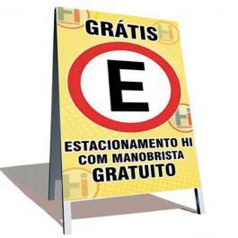 CAVALETE LONA DIGITAL LONA 280GRS 4x4 CORES  MADEIRA / DOBRADIÇA