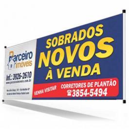FAIXA EM LONA Lona 440grs 4X0 LONA BRILHO BASTÃO / MADEIRA  VALOR DO M²