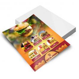 FOLHETOS  - 4x0 - 10x15 Couchê 115grs 4x0 / Impressão Off Set Verniz Total UV Frente Corte Reto